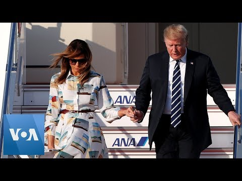 President Trump And First Lady Arrives In Japan For A Four-day Trip