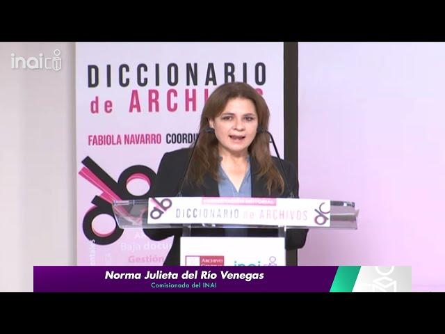 #INAIalMomento NJRV - Presentación del Diccionario de Archivos