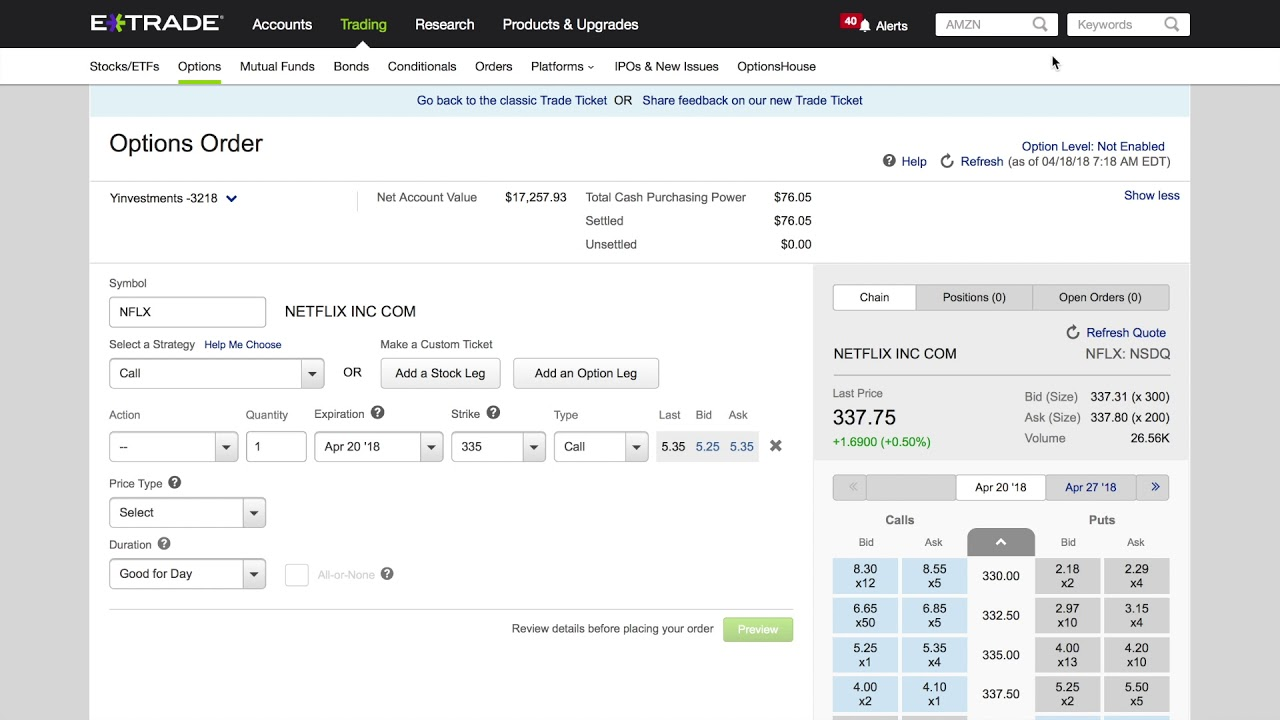 Use ETrade To Buy and Sell Options (Benefits and How-To)