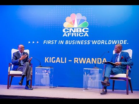 President Kagame attends the launch of CNBC Africa headquarter in Rwanda