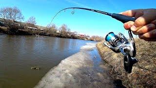 Рыбалка на спиннинг в черте города Клев щуки в марте