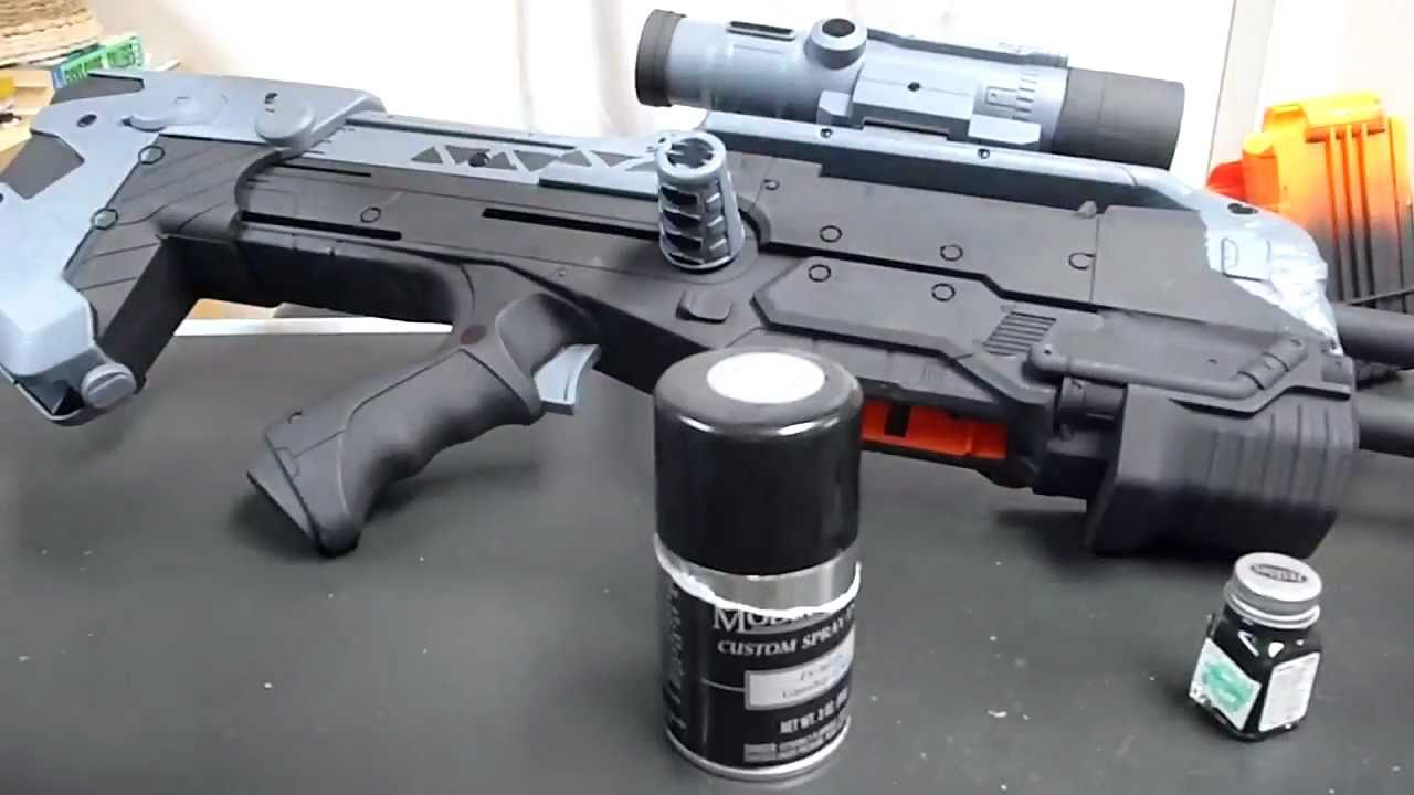 How To: Make A Halo Battle Rifle BR55 (Working Replica)