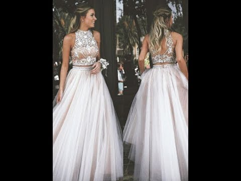 2018-a-line-tulle-ivory-long-prom-dress-with-high-neck---hebeos