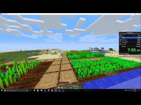 Minecraft Any% Random Seed Glitchless Co-op [Former WR] Speedrun