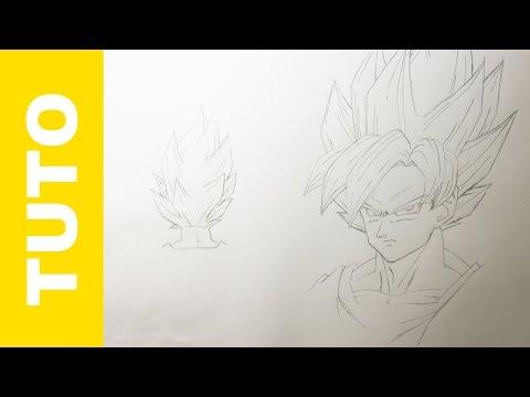 Comment Dessiner Goku Super Saiyan Dragon Ball Z Tutoriel Youtube
