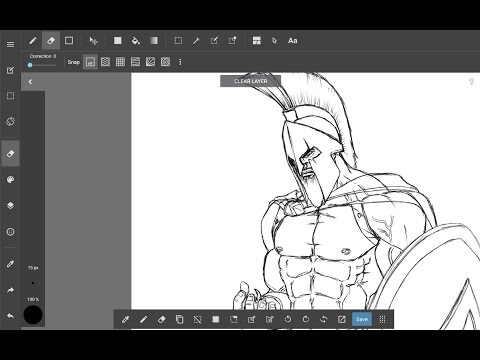 300 King Leonidas Movie Comics original fanart drawing - sketching self-taught