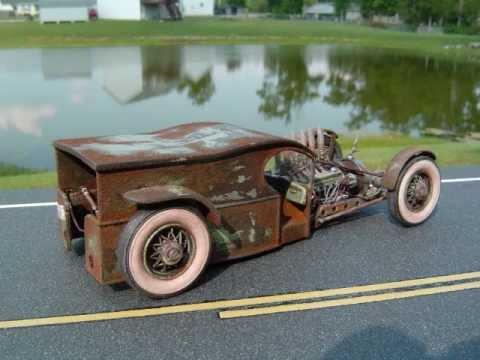 Monogram 1912 Paddy Wagon rat rod model car - YouTube