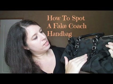 9351ab2e133dae HOW TO SPOT A FAKE COACH HANDBAG - YouTube