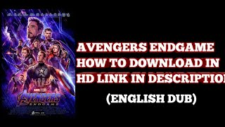 How to download Avengers Endgame in English (Full Movie) Link In Description
