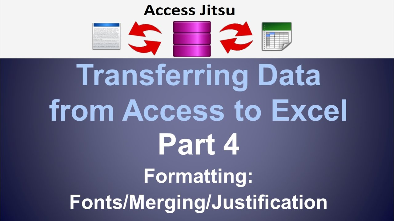 Exporting data from access to excel part 4 formatting youtube exporting data from access to excel part 4 formatting alramifo Image collections