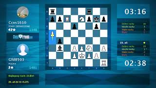 Chess Game Analysis: Gfd8503 - Ccvs1610 : 1-0 (By ChessFriends.com)