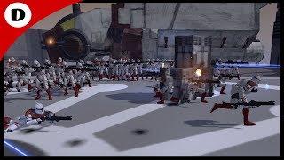 EVACUATION OF KAMINO! - Men of War: Star Wars Mod