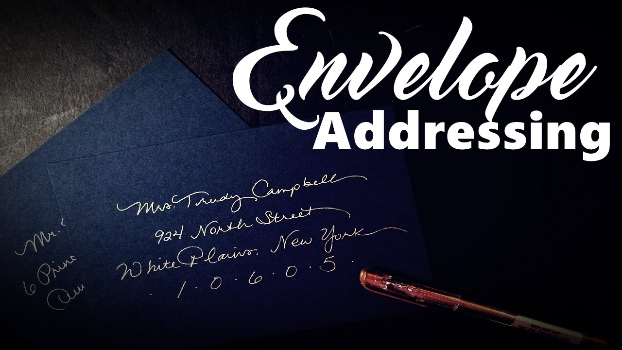 diy calligraphy tools and tips for envelope addressing youtube