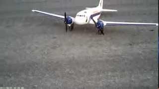 RC DC-3 Dynam Skybus ESC-motor failure.MOV