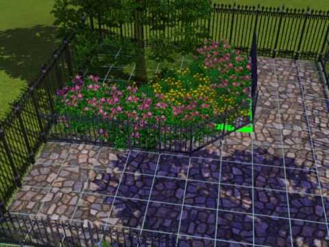 sims 3 how to make the best garden tutorial - youtube