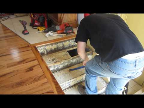 How to replace stair treads in a staircase part 1