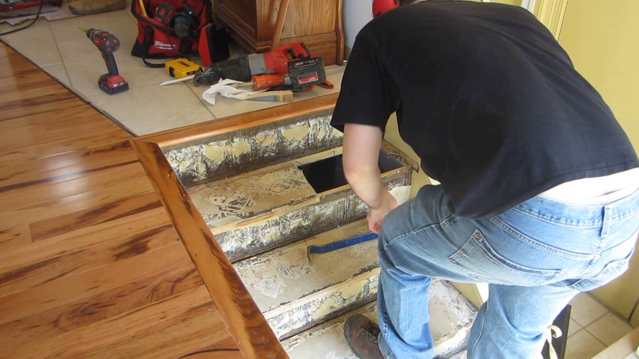 How To Replace Stair Treads In A Staircase Part 1 Youtube   Replacement Wood Stair Treads   Stair Case   Prefinished Stair   Stair Parts   Risers   Stair Nosing