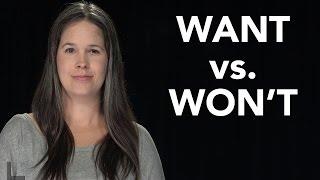 want vs won t pronunciation american english