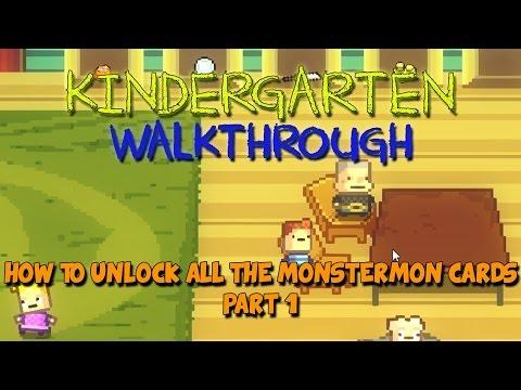 Kindergarten Walkthrough - Kindergarten Gameplay - How to get all the Monstermon Cards - Part 1