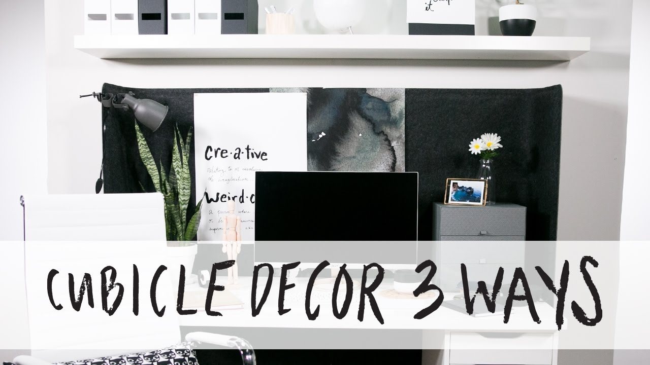 How to decorate a cubicle 3 ways youtube Cubicle bulletin board ideas