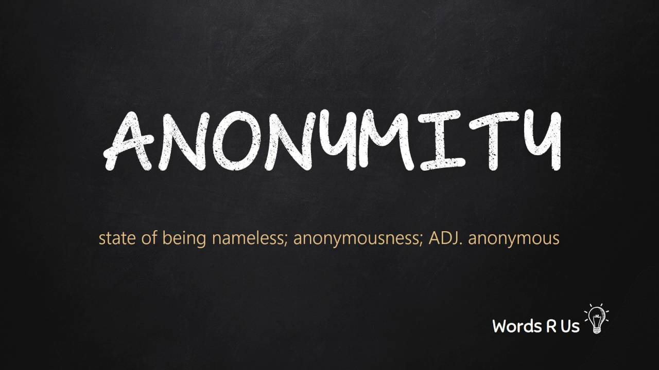 How to Pronounce ANONYMITY in American English