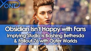Obsidian Isn't Happy with Fans Implying Studio is Bashing Bethesda & Fallout 76 with Outer Worlds
