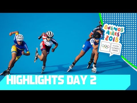 Break Dance debut & 2 x gold for Colombia in Speed Skating | YOG 2018 Day 2 | Top Moments