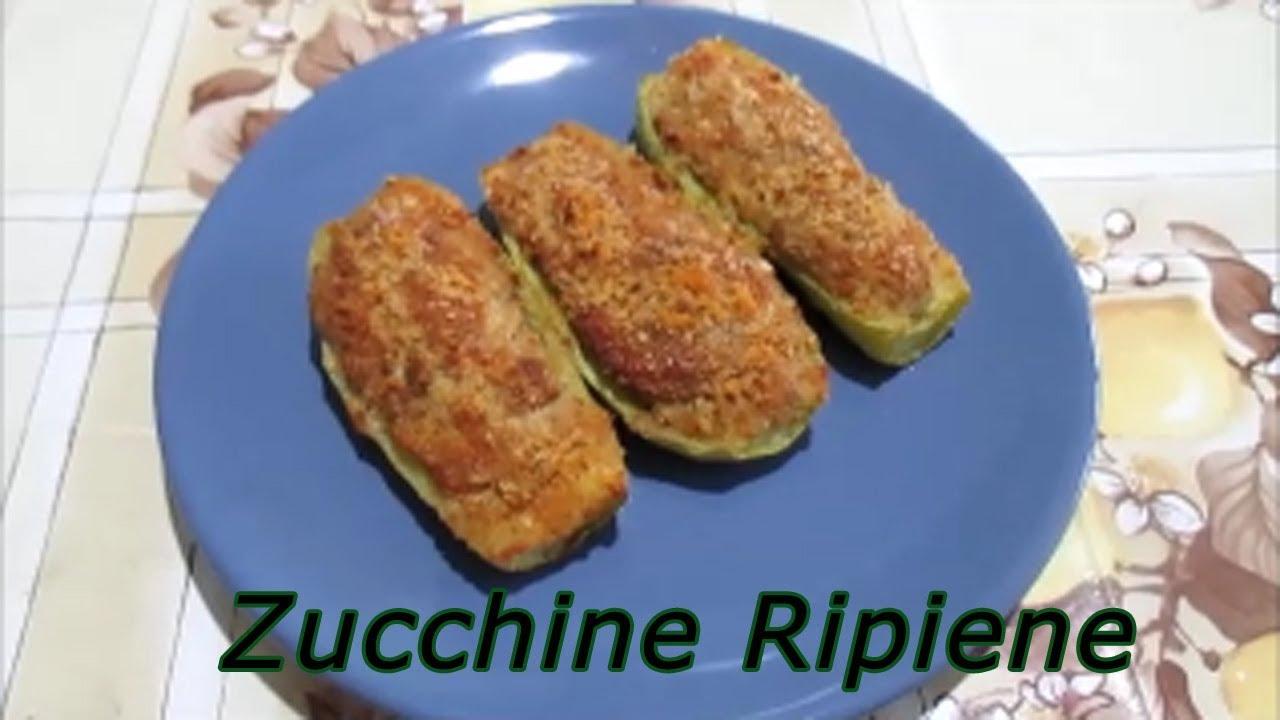Ricetta Zucchine Ripiene Melarossa.Zucchine Ripiene Al Tonno Ricetta Facile E Leggera Youtube