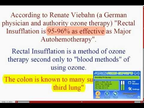 OZONE Rectal Insufflation - A Strong Medicine