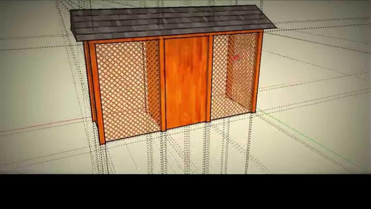 Zupełnie nowe Projekt prostej drewutnii z pomieszczeniem gospodarczym - YouTube KR41