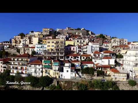 Kavala, Greece - The blue city, an aerial walk
