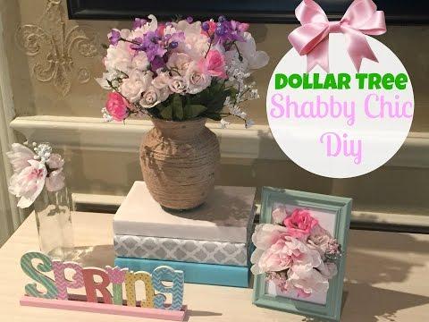 DOLLAR TREE DIY   SHABBY CHIC DECOR