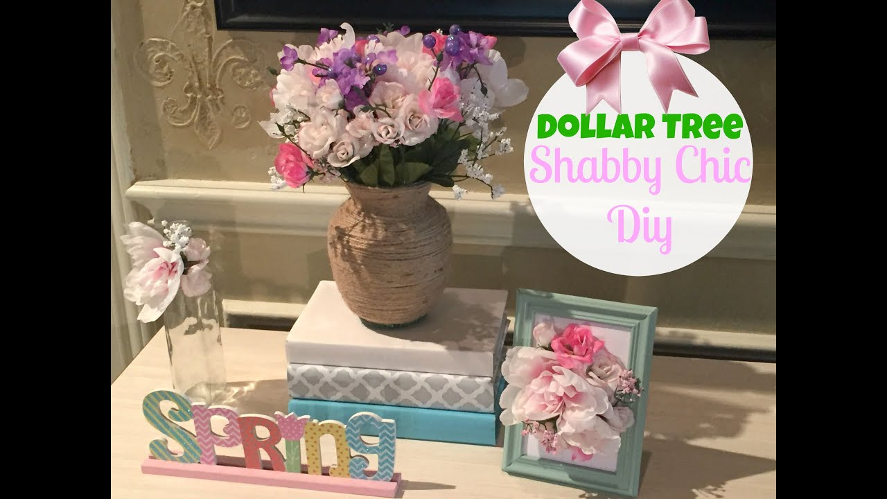 Dollar Tree Diy Shabby Chic Decor Youtube