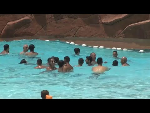 Tourists react as Morocco hit by heatwave