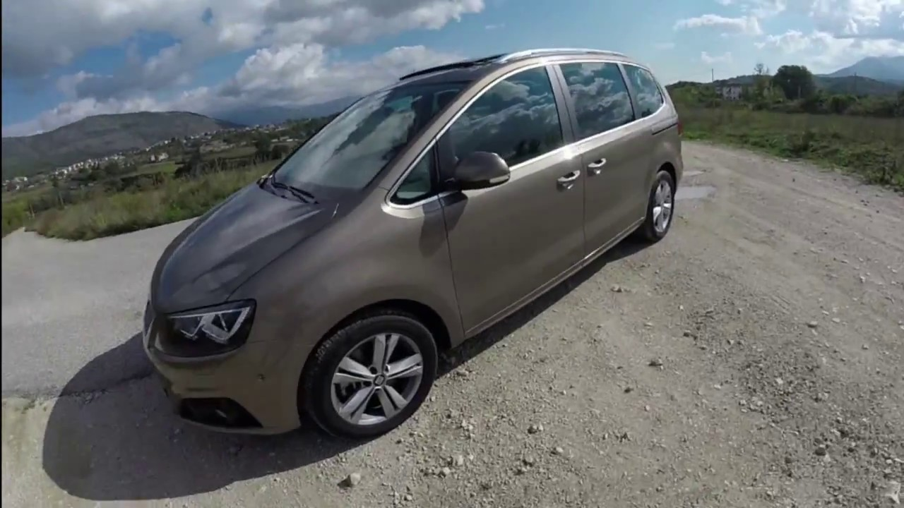 2017 seat alhambra 2 0 tdi 184cv test drive pov tour. Black Bedroom Furniture Sets. Home Design Ideas