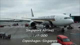 Singapore Airlines 777 Copenhagen - Singapore