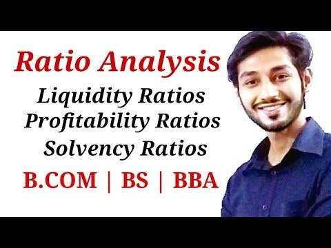 Ratio Analysis. Liquidity ratios, solvency ratios, profitability ratios.