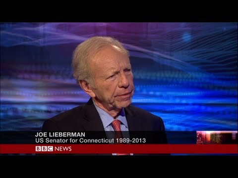 Senator Joseph Lieberman speaks to BBC