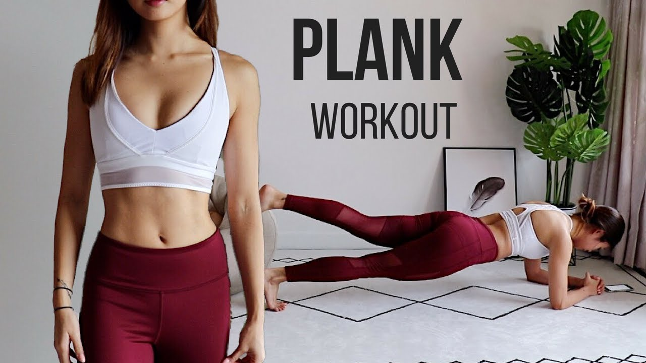 BEST PLANK WORKOUT FOR SMALLER WAIST, FLAT ABS & FULL BODY FAT BURN! 10 Variations