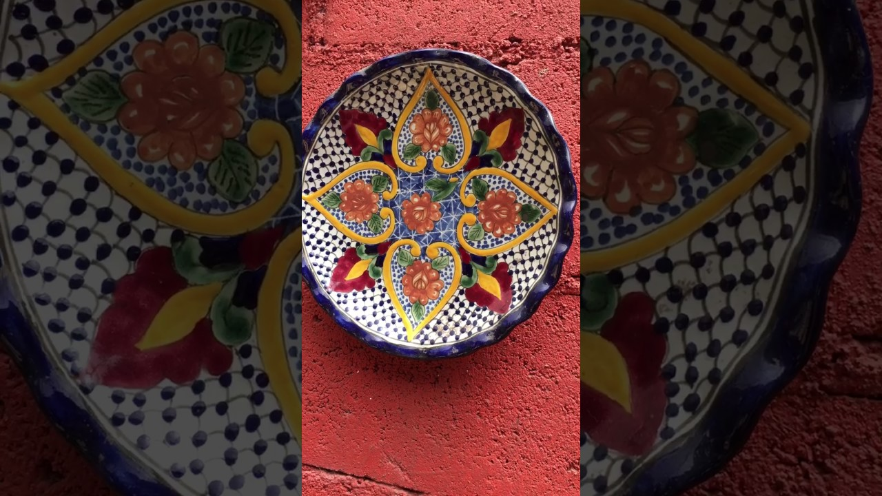 Decoracion con platos de talavera mexicana youtube - Decoracion de platos ...