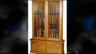 Gun Cabinet - Quality Wooden Cabinets - Made In The Usa