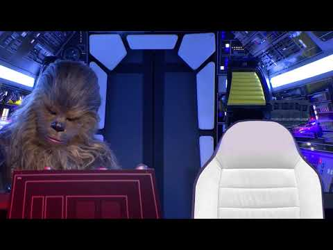 Virtual Background For Zoom Millennium Falcon Cockpit With Chewbacca Youtube