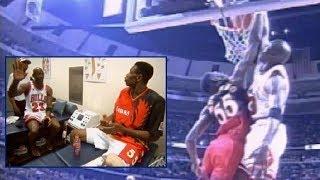 NBA《アメ本²話》MJにまだダンクをかまされていないとはしゃぐムトンボ(1997年)