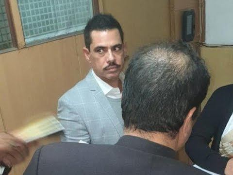 Robert Vadra appears before ED in money laundering case, Priyanka Gandhi accompanies him