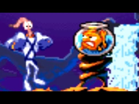 Earthworm Jim 2 (SNES) All Bosses (No Damage)