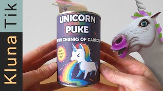 Eating UNICORN PUKE soup!! (with chucks of carrot)