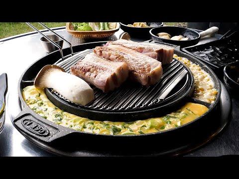 Grilled Black Pork on the Beach in Jeju Island – Korean Food