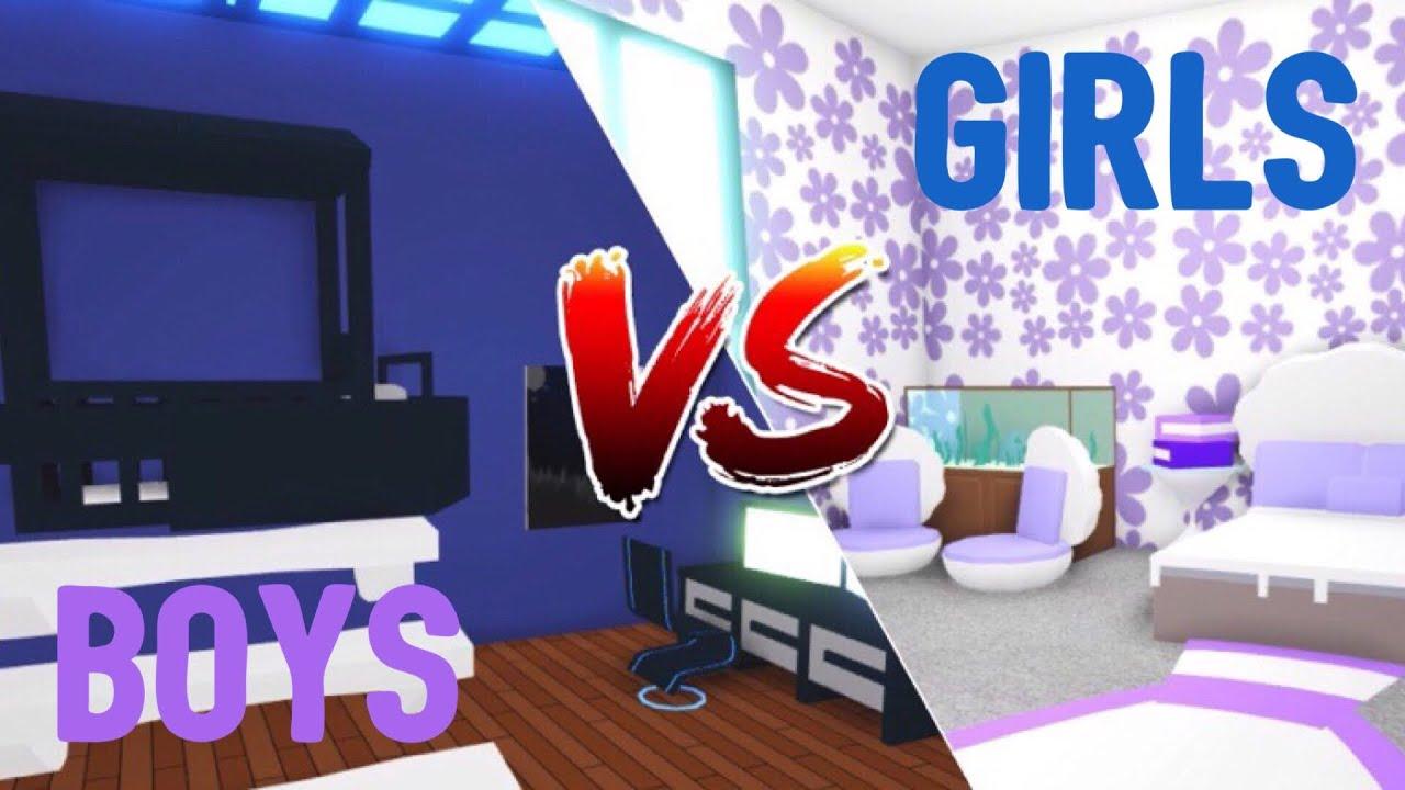 Boys Vs Girls Bedroom Design Ideas Building Hacks Roblox Adopt