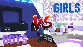 BOYS VS GIRLS Idées de conception de chambre à coucher - Building Hacks (Roblox Adopt me) Espace, Sirène SugarCoffee (en)
