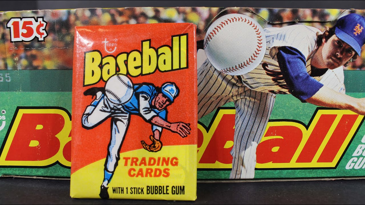 1975 Topps Mini Wax Pack Box Break Opening From Case Possible Gem 10 Rookie Baseball Cards Video 2